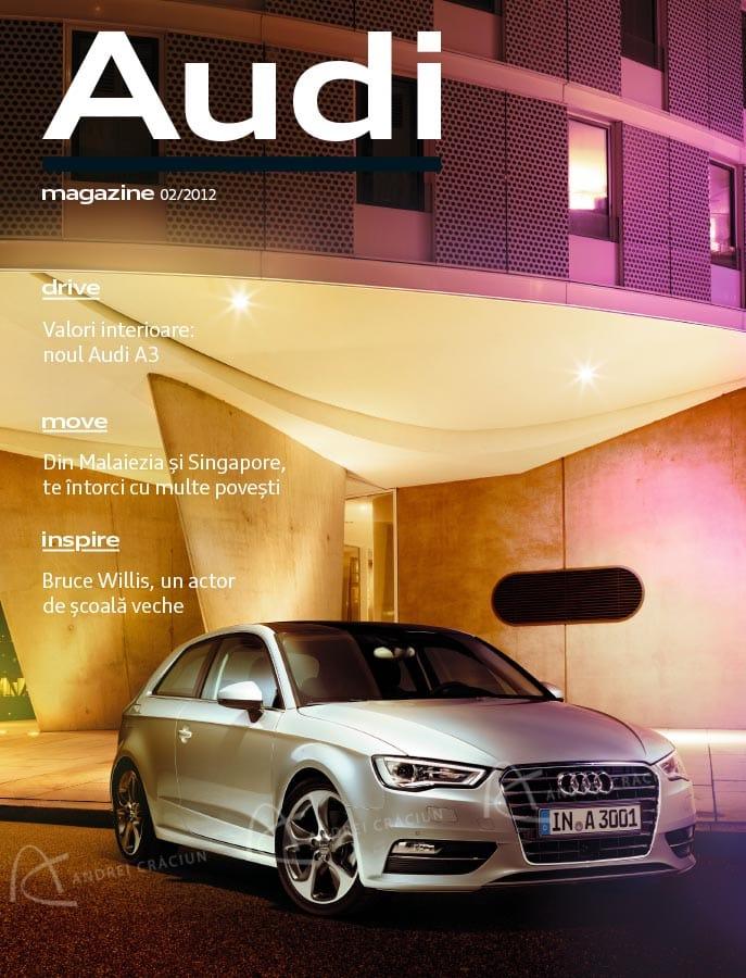 Audi Magazine cover copy