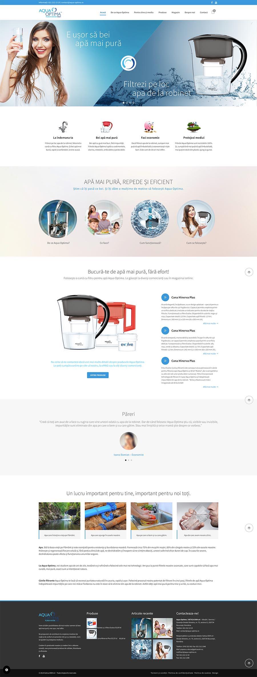 Aqua Optima Home Page