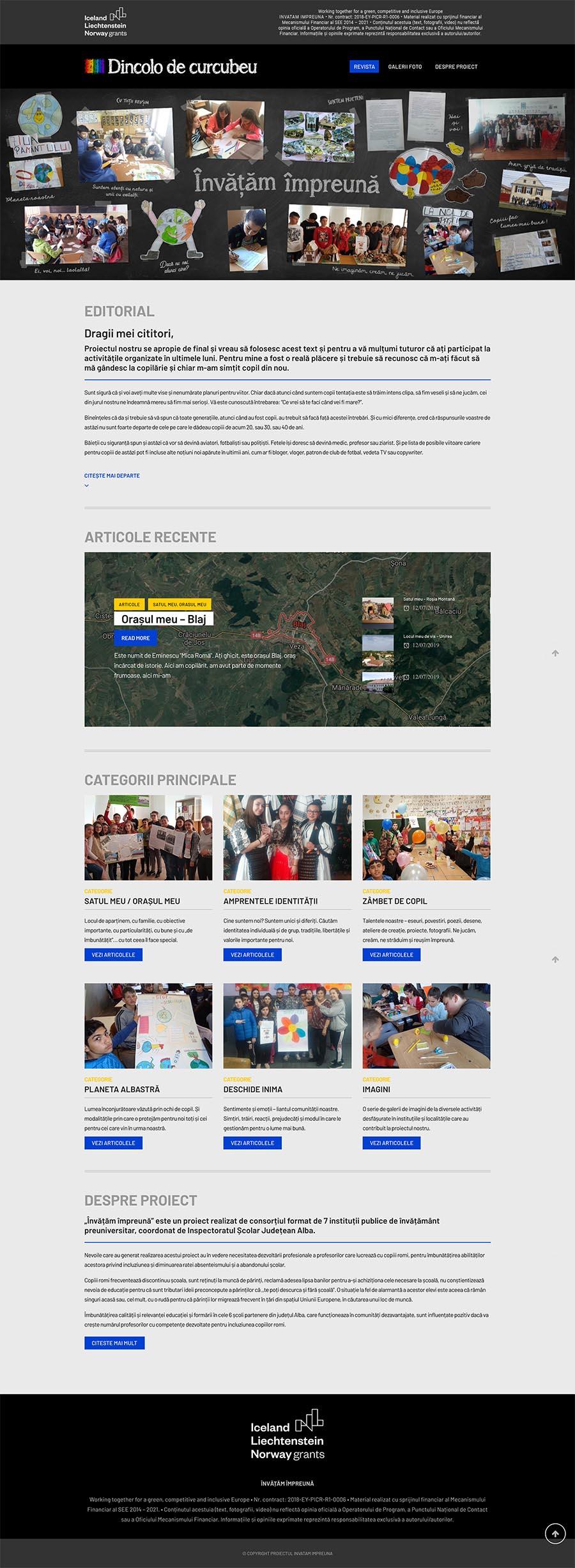 DINCOLO DE CURCUBEU • WEBSITE>